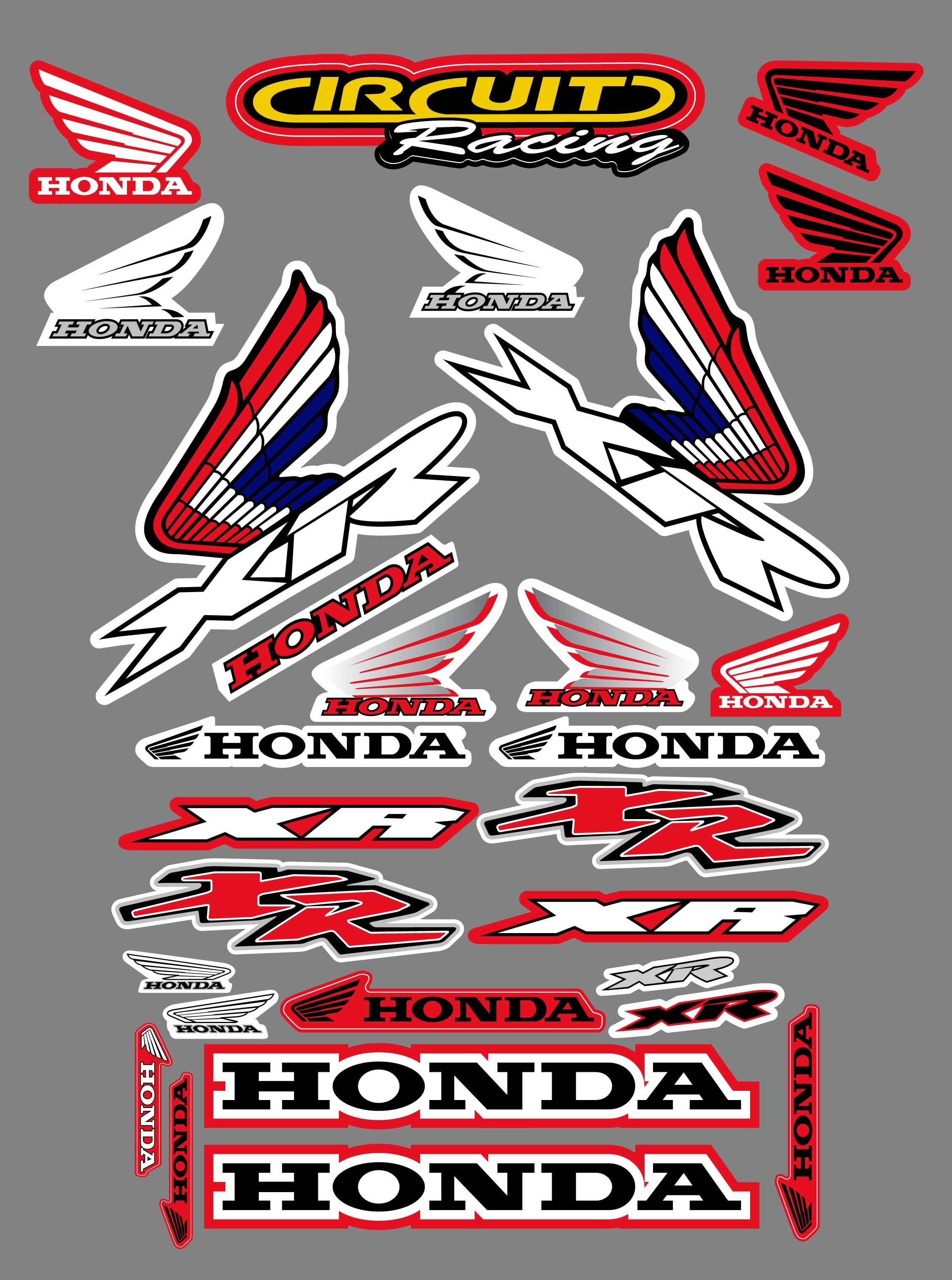 Honda xr sticker kit