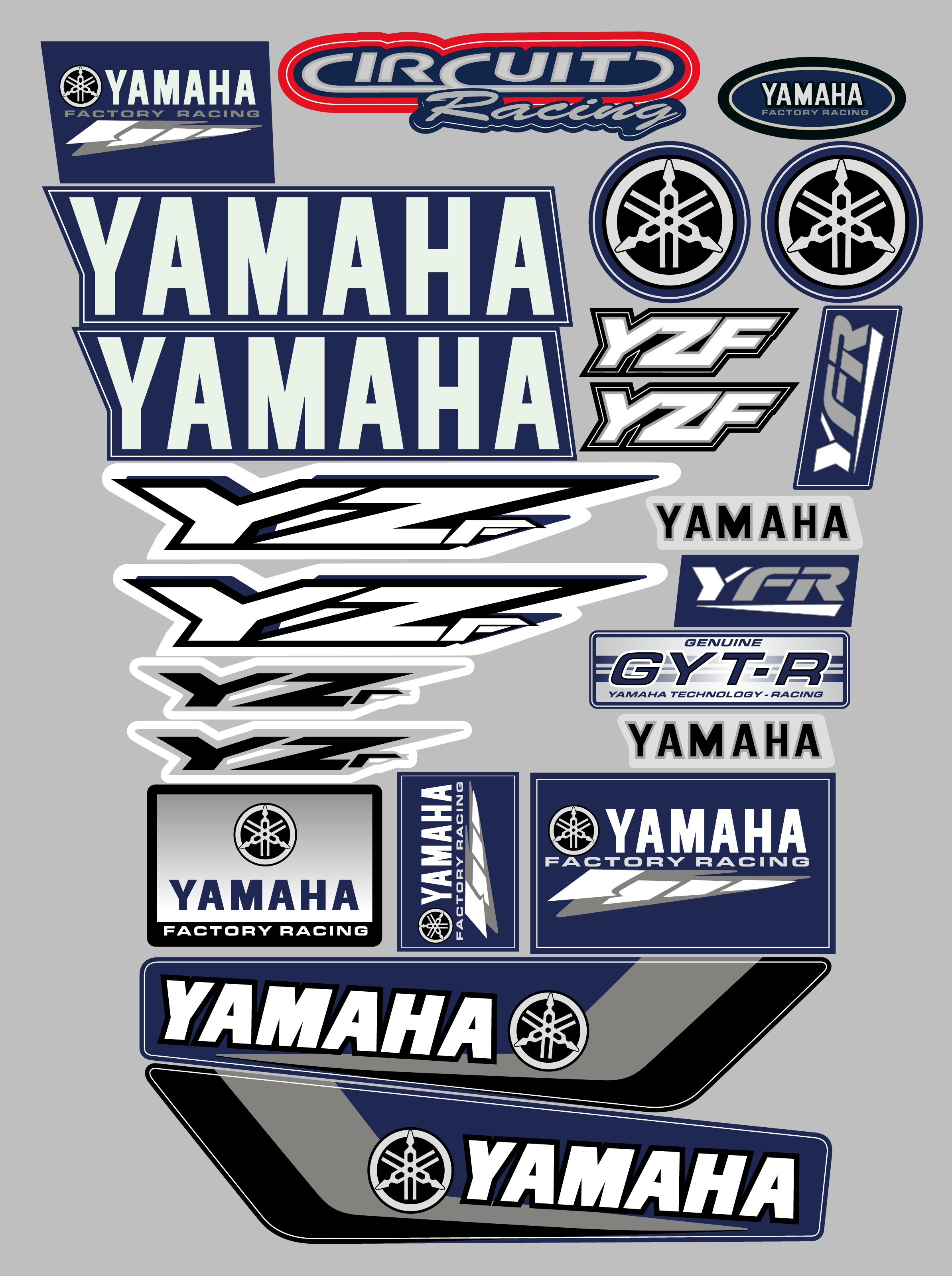 Yamaha yzf decal sticker kit