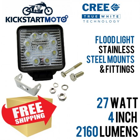 27 WATT 4 INCH SQUARE CREE LED FLOODLIGHT